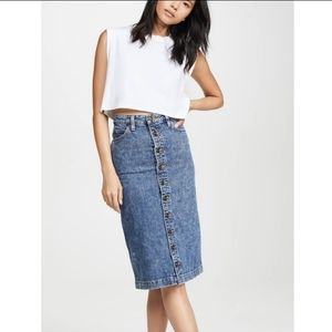 Lee vintage modern high rise midi skirt Lee